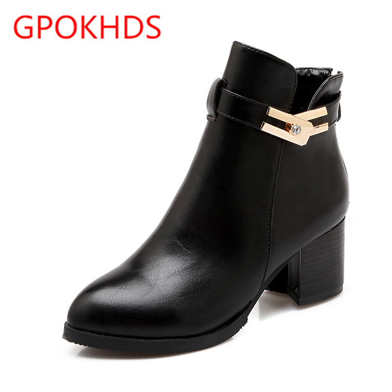 Popular Black High Heel Ankle Boots-Buy Cheap Black High Heel