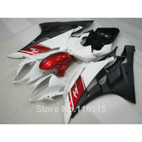 ABS body kits for YAMAHA R6 2006 2007 red white black fairings YZF R6 06 07 injection molding full fairing kit NB028