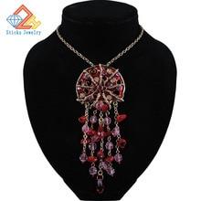 Europe long chain necklace drip, enamel pendants fashion jewelry female girl new style