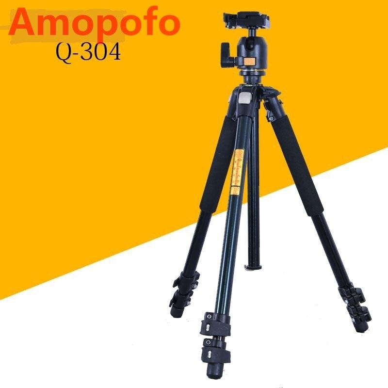 DHL expédition Portable professionnel trépied photographique pour DSLR/SLR appareil photo monopode Q-304 avec rotule Kit caméra trépied