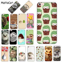 MaiYaCa Hedgehog Cute in Teacup Animal Art New Arrival Phone Case for iPhone 8 7 6 6S Plus X XS MAX XR 5S SE 5C case Cover