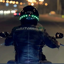Cascos de moto casco luces de giro intermitentes Inteligente Inalámbrica casco luces de giro