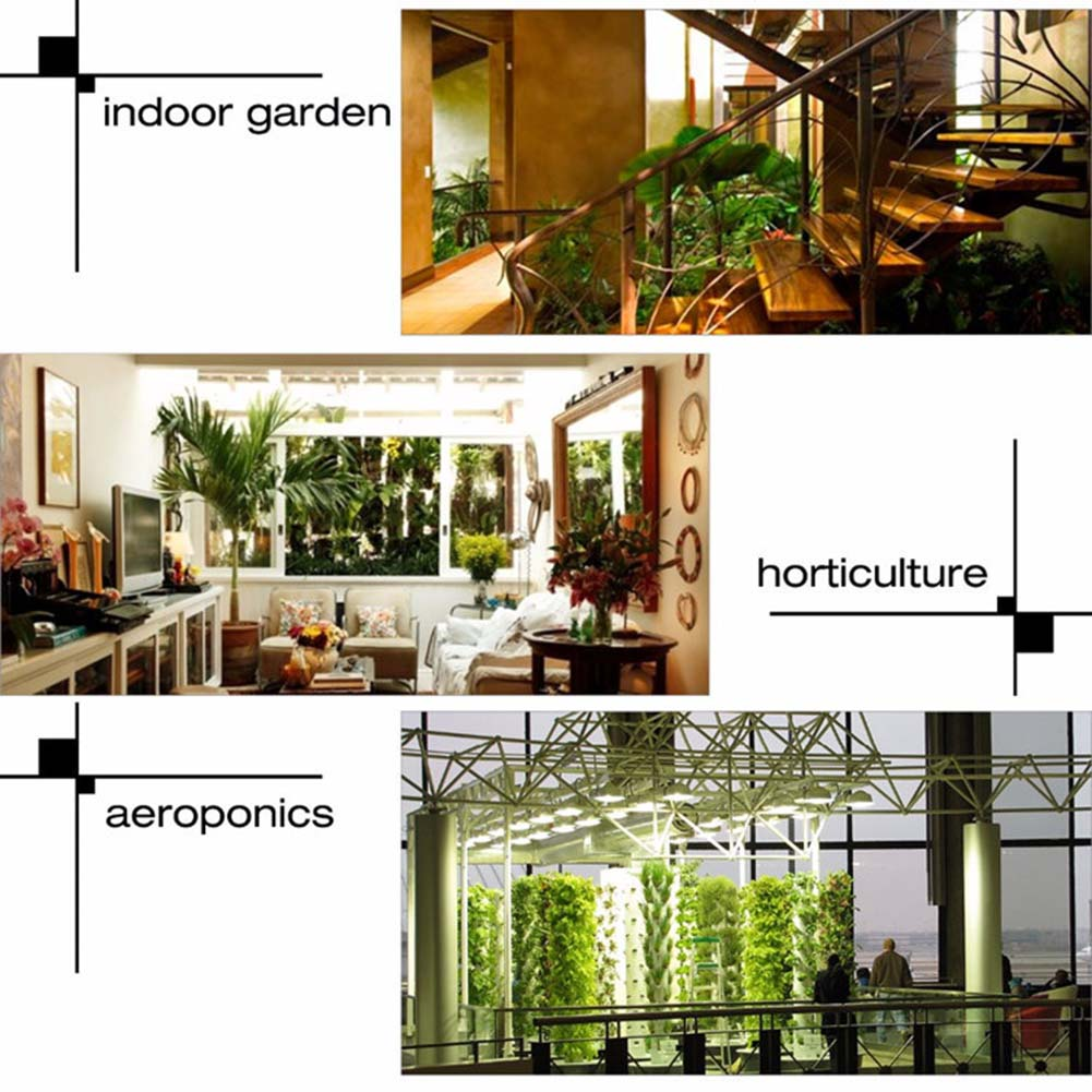 LED Grow Light Lamp 300W Full Spectrum Indoor Veg Flower Plant Panel Horticulture DTT88