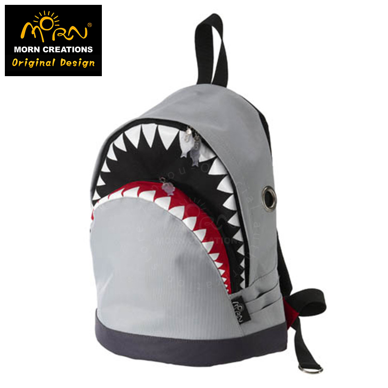 Morn Creations Original Design Shark Backpack Travel Bag Men School Bags SK-102-M