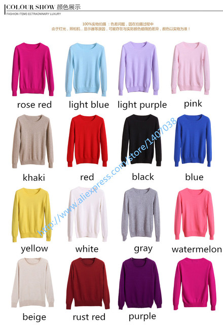 2017 Cashmere wool Sweater Women Sweaters and Pullovers female Fashion o-neck sweater solid Color Long sleeve Knitted clothes