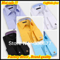 Free shipping Slim fit 38-45 Hombres de camisa business contrast collar&cuff brand French cuff dress shirt for men QR-2070