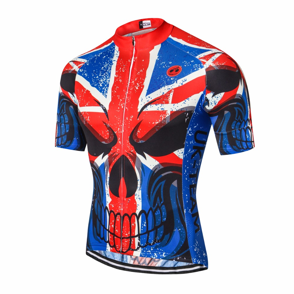 2019 Cycling Jersey Men's Bike Jerseys Bicycle Pro Team Road Mountain Mtb Maillot Ciclismo Ridingtops T-shirts Usa Uk Red Black Clear-Cut Texture