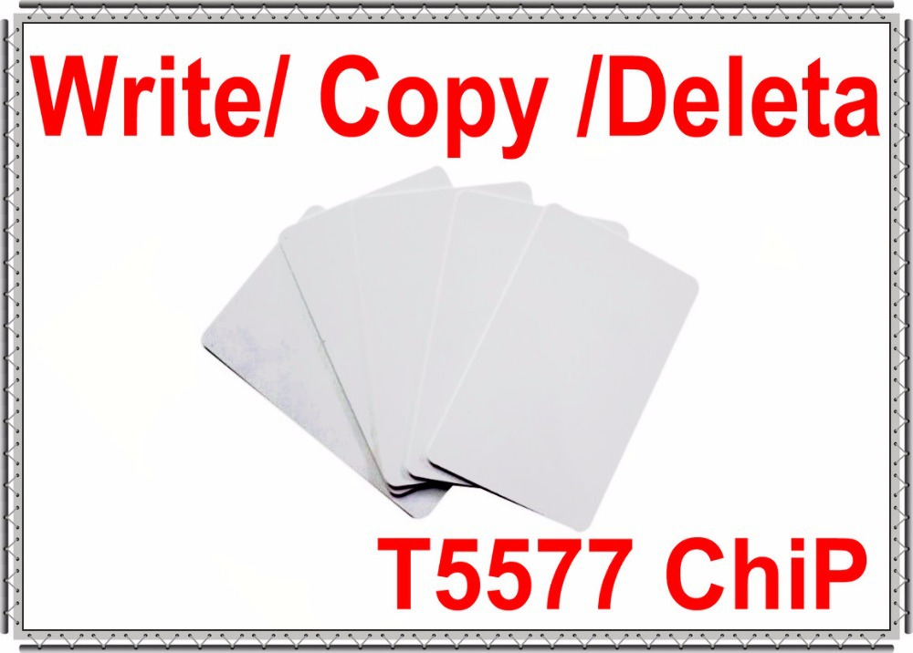 T5577 Card RFID 125KHZ EM ID rewritableT5577 125KHz smart AccessControl copy deleta reader10 Free ship - Security Technology Co.,LTD store