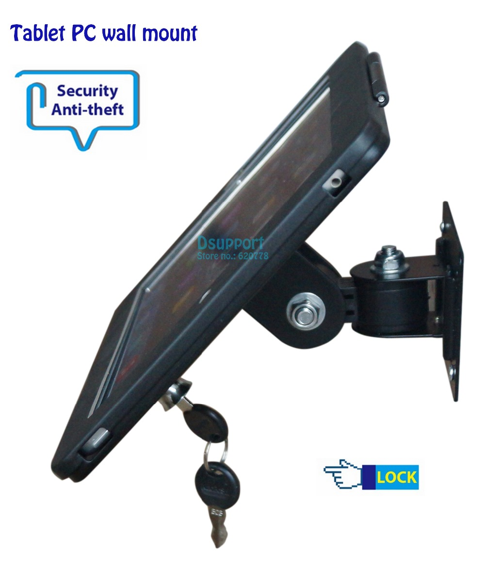 Fit for iPad 2/3/4/air/pro wall mount metal case for ipad stand display bracket tablet pc lock holder support Adjust the angle