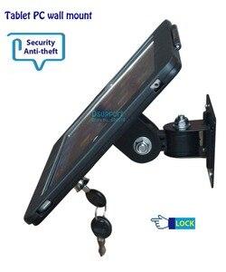 Image 1 - Fit voor ipad 2/3/4/5/air/pro wall mount metalen case voor ipad stand display beugel tablet pc lock houder ondersteuning Stel de hoek