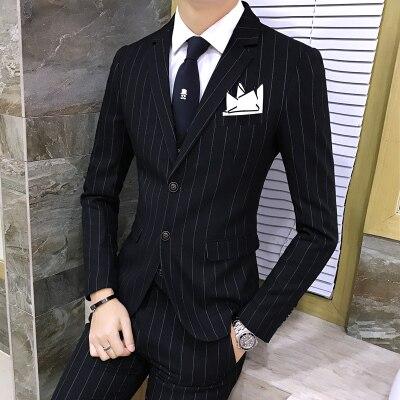 3 unidades traje con pantalones Chaleco de rayas esmoquin diseñador chino  Retro trajes de boda para hombres Slim Fit Plus tamaño MAUCHLEY en Trajes  de La ... 3bf24464fcd