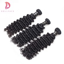 Dollface Cambodian Virgin Human Hair Weave Bundles Deep Wave 100% Unprocessed Natural Color Hair Bundles 3pcs Free Shipping(China)