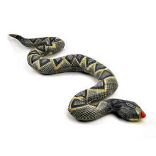 2016 Hot 95CM Scary Snake Toy Lifelike PVC Snake Shape Inflatable Toys Surprise Joke Toys Funny Gift Products For Shocker Fun(China)