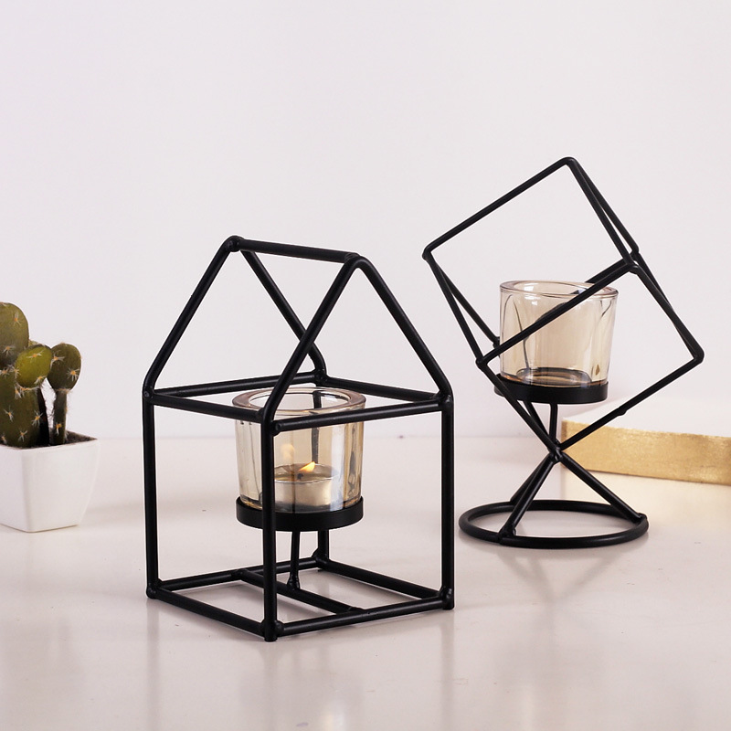 Home & Garden Home Decor Romantic Gift Candlestick Cafe Shop Decoration Nordic Retro Christmas Candle Holder Candles & Holders