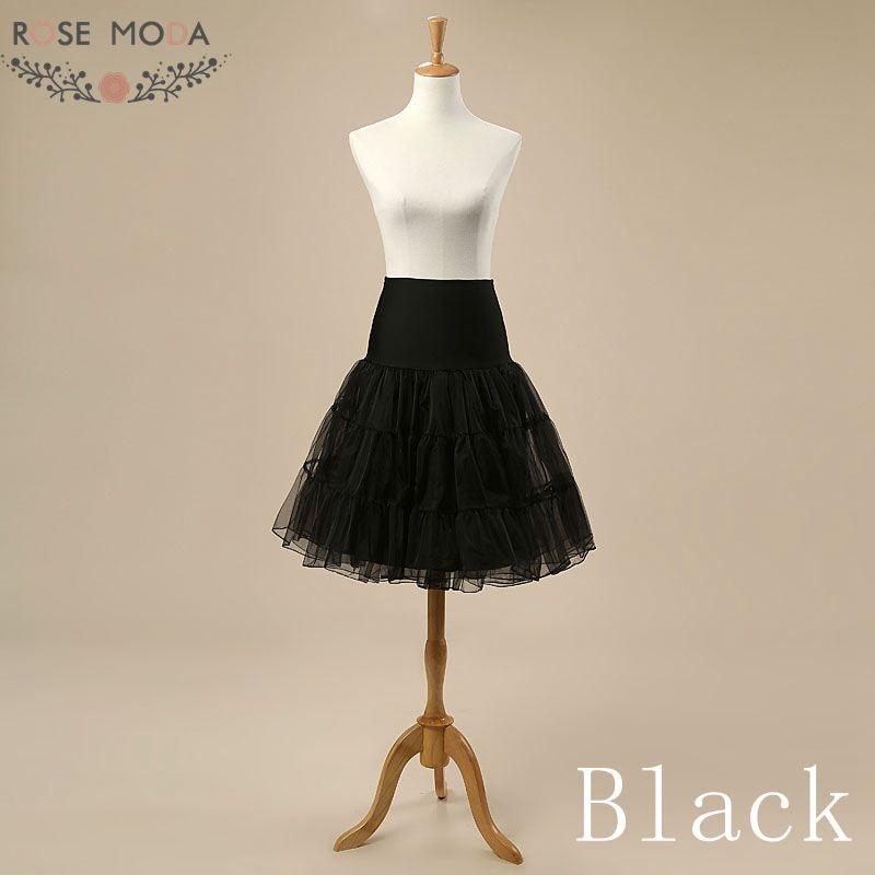 Black White Red Blue Yellow Purple Short Mini Petticoat for Cocktail Dresses Crinoline Underskirt for Short