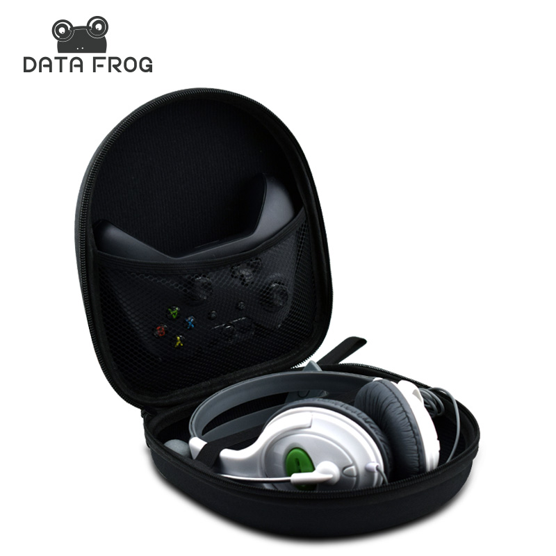 Portable Case For Xbox One Controller For Headphone Headset Carry Pouch Data Line Storage Bag Gamepad Carrying Pouch portable protective air foam hard pouch case for xbox one controller lightweight easy carry bag case cover for xbox one gamepad
