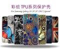 Горячая Окрашенные Мешок Мобильного Телефона TPU Case Ultra Thin Skin Case для Samsung Galaxy A3 A5 A7 (2017) случаи Тонкий Задняя Крышка Телефон Shell
