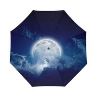 Galaxy Space Universe Nebula Cloud Moon Pattern Personalized Auto Umbrella Cool Design Custom Auto Sunny Rainy