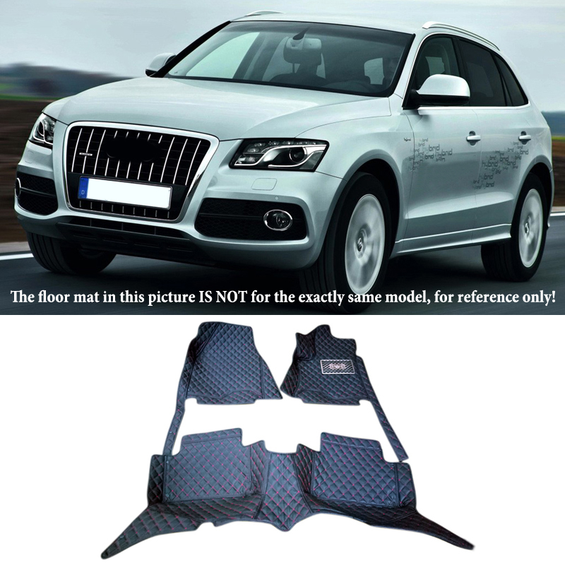 Interior Leather Floor Mats & Carpets 1set right Left hand drive For Audi Q5 8R 2009 2010 2011 2012 2013 2014 2015 2016 10 13 for audi a3 8v quality leather mats inner carpet foot mat 2010 2011 2012 2013