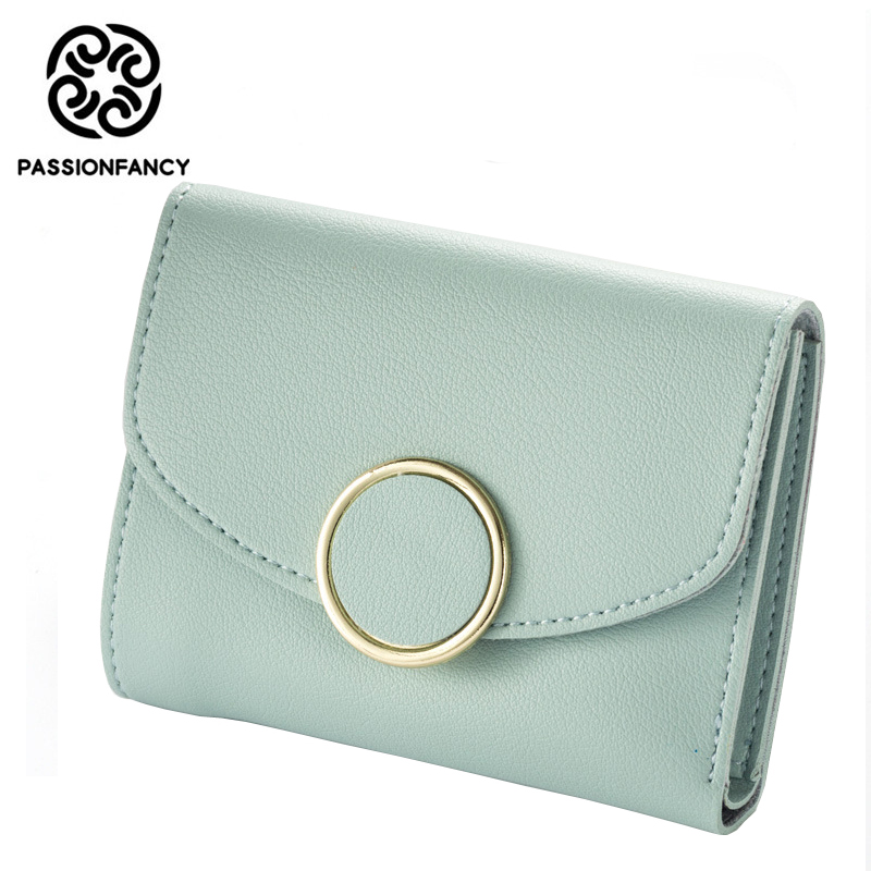Women Wallets Famous Brand Three Bifold Small Wallet female Fashion Hasp Open High Quality Leather Wallets Card Holder Purse mance designer wallets famous brand women wallet mini grind magic bifold leather wallet card holder wallet purse tarjetero mujer