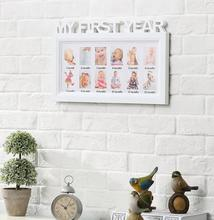 Baby memorial photo frame letter piece conjoined children 12 months wall picture frame 17E16D5