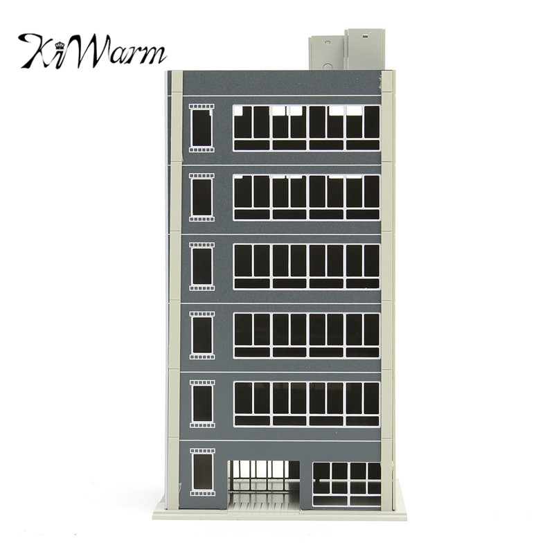 KiWarm 1:100 Outland Models Train Railway Modern 6 Story Painted Residential Gauge Building Scale Grey Ornament Decor