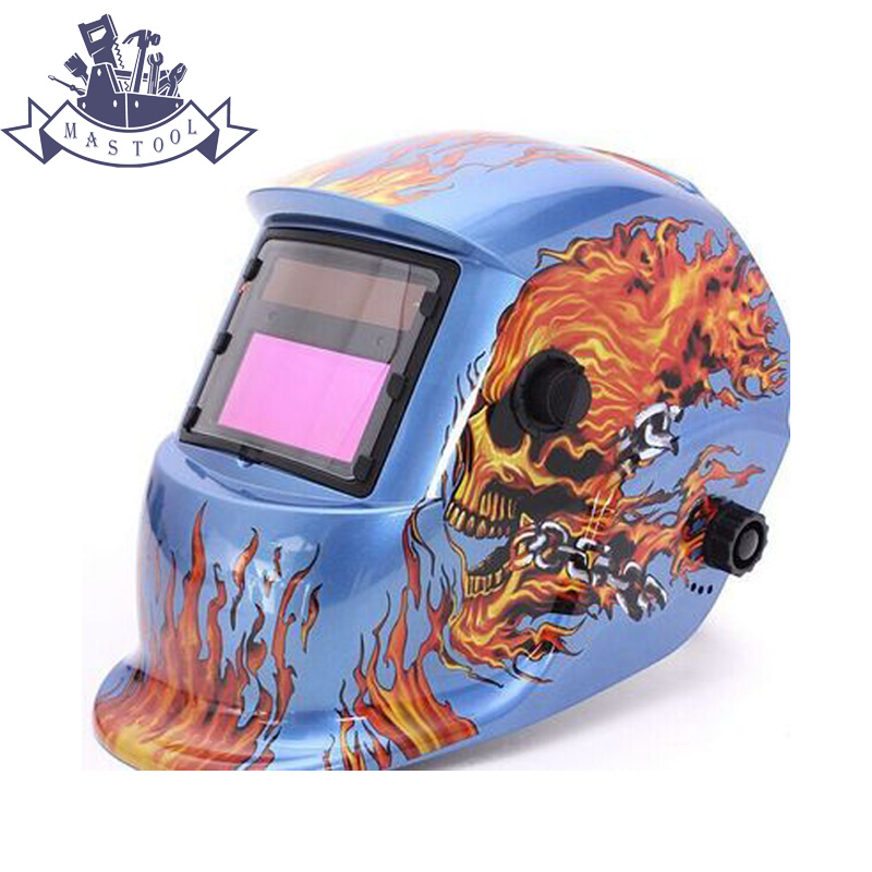 Auto Darkening Welding Helmet Welding Mask MIG MAG TIG Sensor Blue Color professional welding wire feeder 24v wire feed assembly 0 8 1 0mm 03 04 detault wire feeder mig mag welding machine ssj 18
