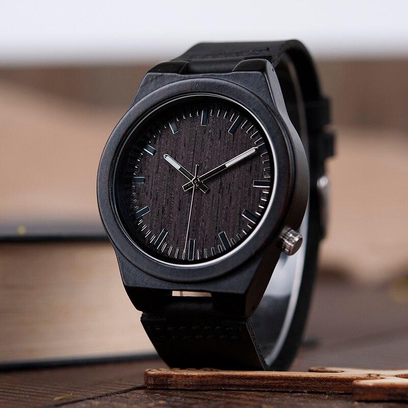 BOBO BIRD V-B12 μαύρο ξύλινο ρολόι Mens - Ανδρικά ρολόγια - Φωτογραφία 2