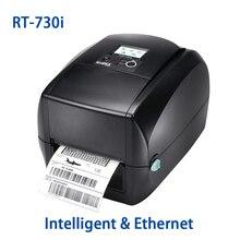 Intelligent 300DPI label printer High-end LCD display thermal transfer barcode printer Godex RT-730i 104mm sticker machine