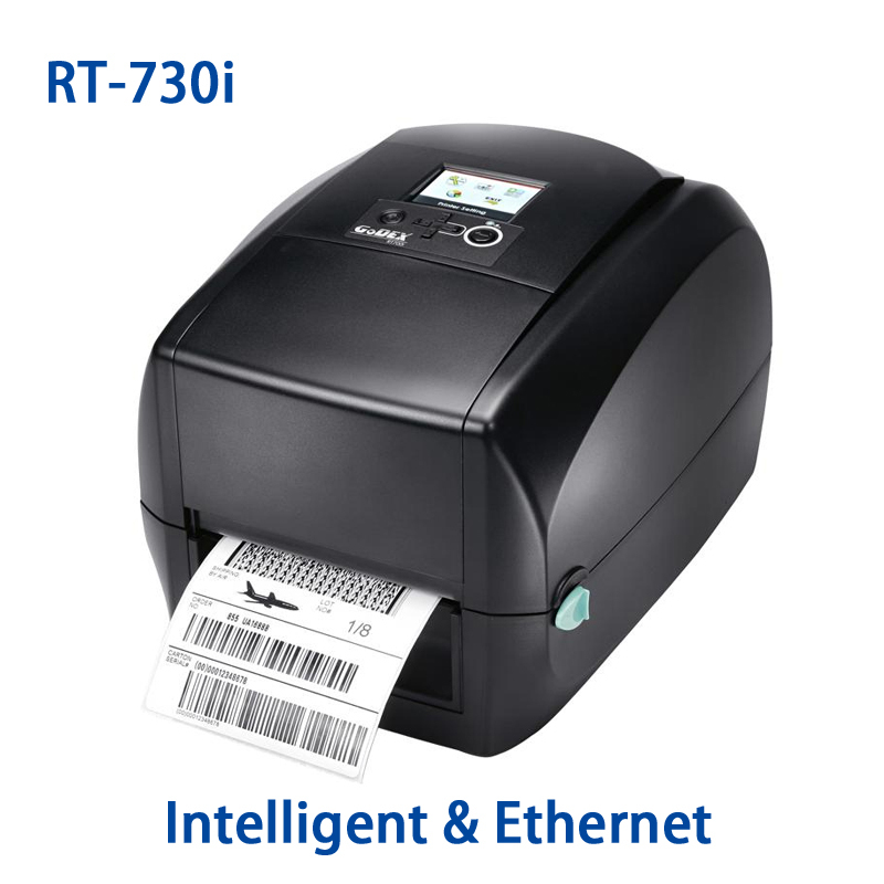 Intelligent 300DPI label printer High-end LCD display thermal transfer barcode printer Godex RT-730i 104mm sticker machine zootopia 45189 22 p1006066 printer main drive belt for zebra 110xi4 105sl 300dpi barcode label printer