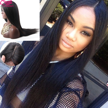 Silk Top Full Lace Wigs Brazilian Virgin Human Hair Wig Straight Long Human Hair Lace Front Wigs In Stock Wholesale