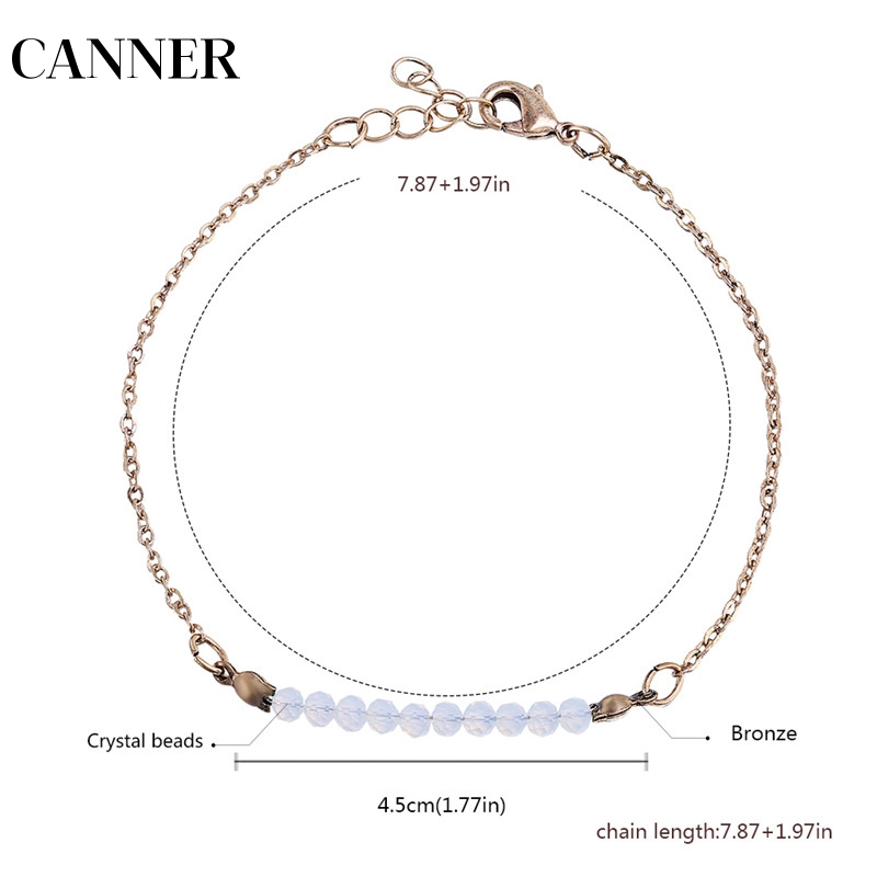 Capable Canner Wholesale Designer Fashion Jewelry Nature Stone Beads Chain Bracelet For Women Girl R4 Clear And Distinctive
