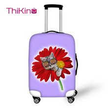 Thikin Funny Dog Travel Luggage Cover Candy Color Flower School Trunk Suitcase Protective Bag Protector