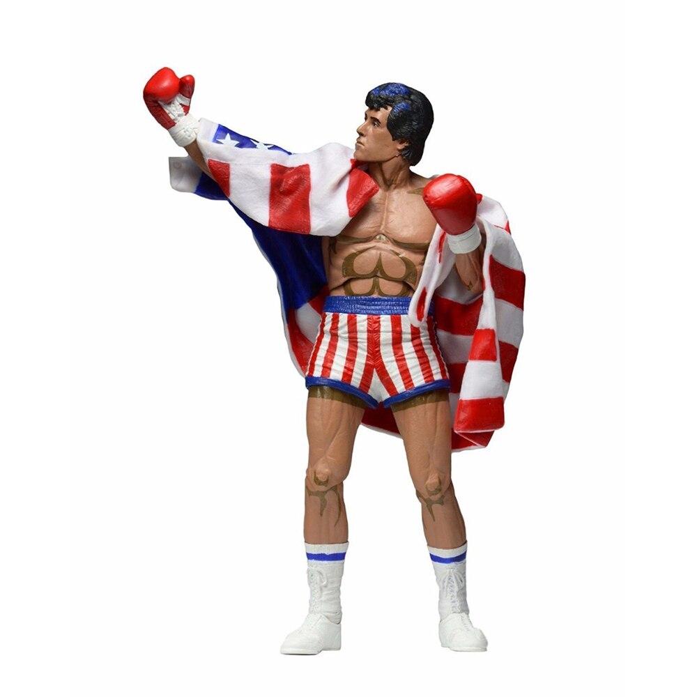 7 pouces Rocky Sylvester Stallone classique jeux vidéo apparence 1987 Figure modèle avec boîte enfants Collections