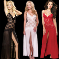 2017 New hot sell well Women Sexy Lingerie red blue Nightwear Underwear Lace Babydoll Dress + G-String Fashion Women Chemises