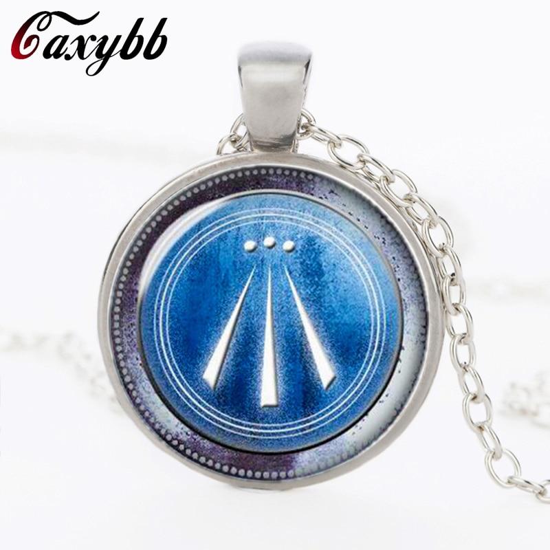 Awen Symbol glass Women necklace Druid protection amulet flowing spirit poem bard Pendan ...