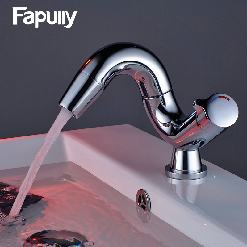 Fapully Bathroom Basin Faucet Torneira Single Handle Basin Mixer Tap Cold And Hot Water Tap Bathroom Sink Faucet hpb square style tall basin faucet water tap chrome finished bathroom sink mixer single handle hot and cold hp3132
