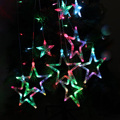 AC 220V 10W 168-LED Star String Lights with EU-plug for Garden / Room / Holiday / Christmas Decoration