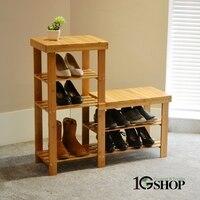 Простой стиль Нэн бамбука высокие и короткие ботинки стул табурет, скамейка стеллаж родитель ребенок обувь дома стула тахта бамбуковая меб