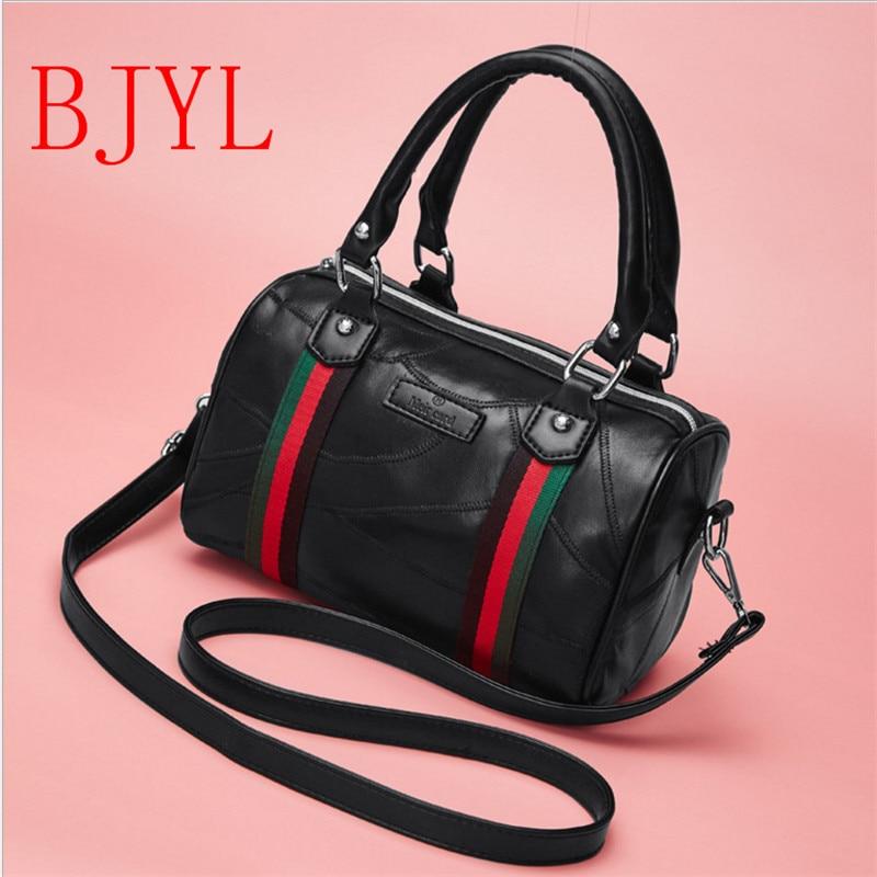 цена на Genuine Leather Women Crossbody Bag Barrel Shaped Pu Women Shoulder Bag Messenger Bags Lady Handbags