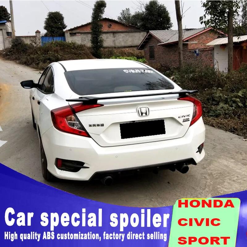 2016 2017 2018 New model for Honda civic spoiler Car Rear Wing Primer Color Rear Spoiler ABS material by black white spoilers цена