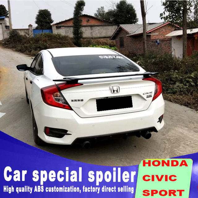 2016 2017 2018 New Model For Honda Civic Spoiler Car Rear Wing