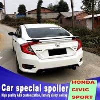 2016 2017 2018 New model for Honda civic spoiler Car Rear Wing Primer Color Rear Spoiler ABS material by black white spoilers