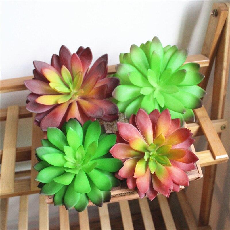 Home & Garden Office Living Room Simulation Mini Succulent Decoration Plastic Lotus Bonsai Landscape Decoration Garden Decoration Home Decor