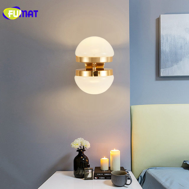 Online Shop FUMAT Muur Lampen Goud Slaapkamer Muur Licht Moderne ...