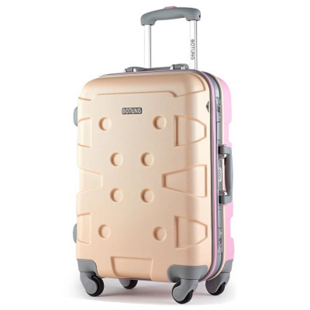 """20 """"24"""" АБС Алюминиевый чемодан багаж Чемодан для девочек Путешествия Чемодана Прокатки багаж"""
