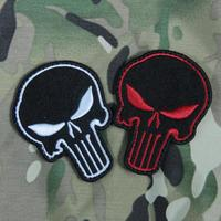 10pcs Big Size Skull Tactical Patch Hook Military Punisher Badge Cloth Army Brassard Combat Navy Seals Armband 9*6.7cm