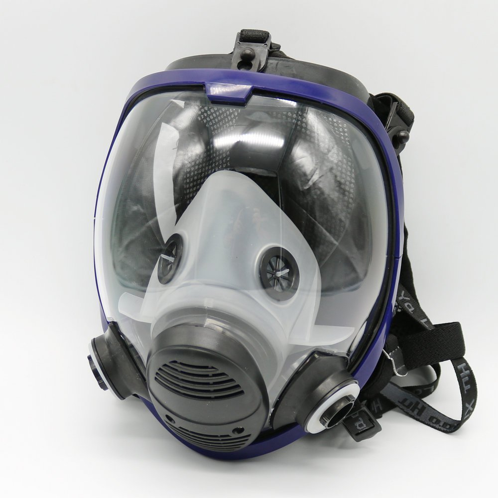 Temperate For 6800 Blue Silicone Gas Mask Full Facepiece Respirator 7 Piece Suit Painting Spraying Anti Dust 5n11 Filters 6001cn Cartridge Festive & Party Supplies Party Masks
