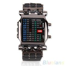 2018 Popular Cool Business Hot Brand Luxury Unisex Binary LED Digital Date Square Dial Casual Sport
