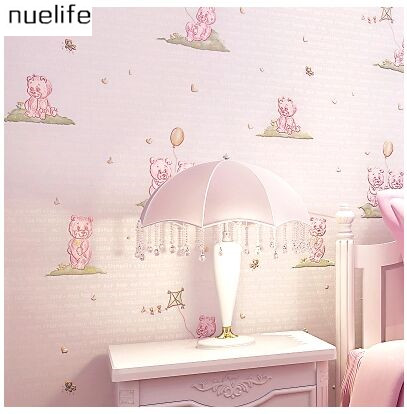 0.53x10m Cute Kids Room Wallpapers Girls Bedroom Pink Princess House ...